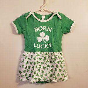 St. Patrick's Day Baby Onesie dress 6-12 months
